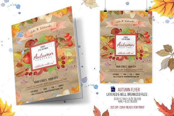 Autumn Festival (Fall) Flyer Template - Events Flyers