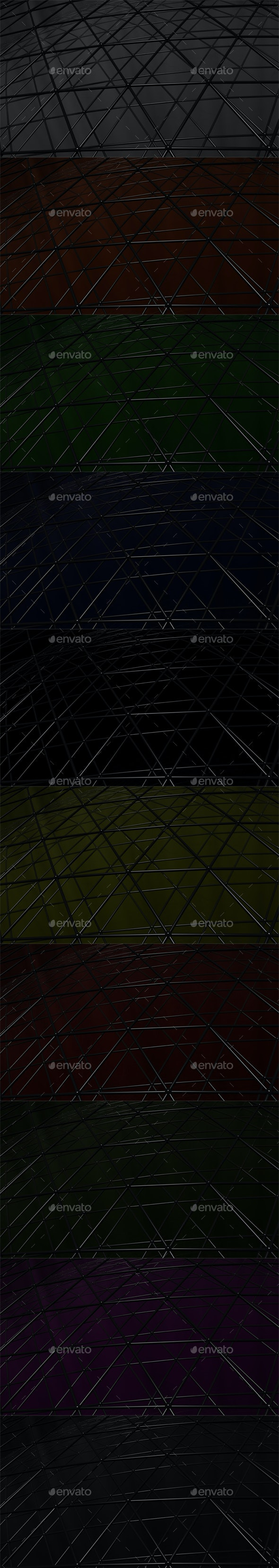 Triangular Grid 2 (Pack of 10) - Tech / Futuristic Backgrounds