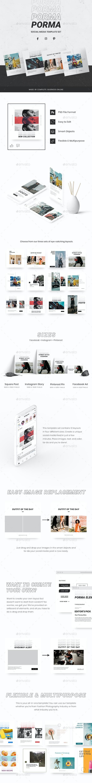 Porma - Fashion & Photography - Flexible Facebook, Instagram & Pinterest Ad Banners - Social Media Web Elements