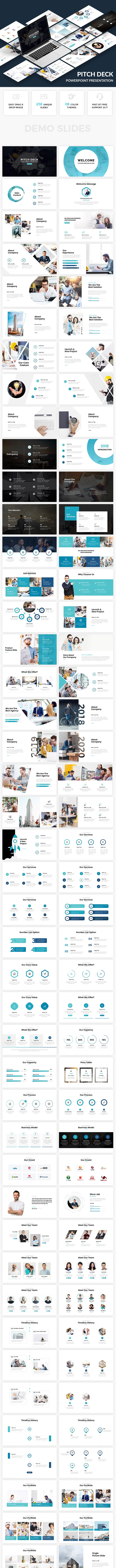 Bundle 2 in 1  Clean Business Powerpoint Template 2018 - Business PowerPoint Templates