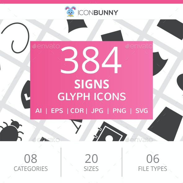 384 Sign Glyph Icons