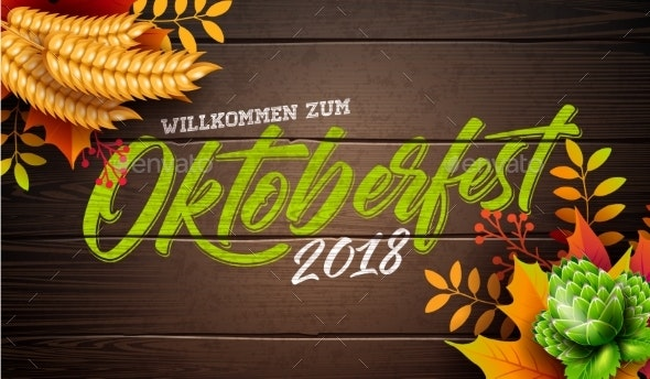 Oktoberfest Banner Illustration with Typography - Seasons/Holidays Conceptual