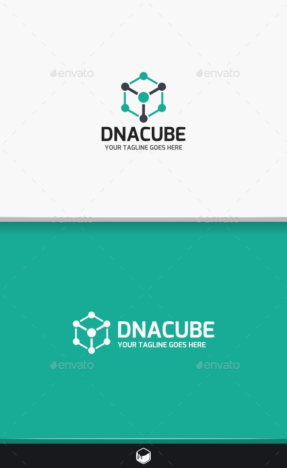 DNA Cube Logo - Objects Logo Templates
