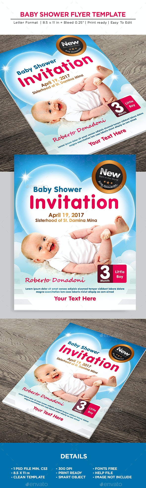 Baby Shower Flyer - Invitation Flyer - Miscellaneous Events