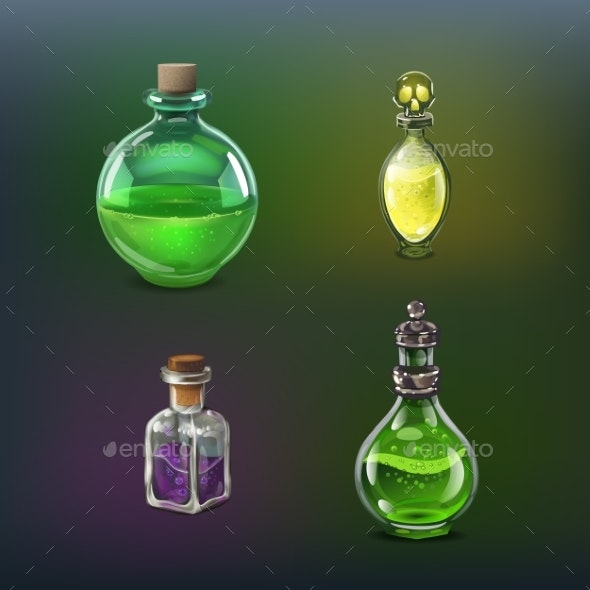 Poison Bottles Set - Miscellaneous Vectors