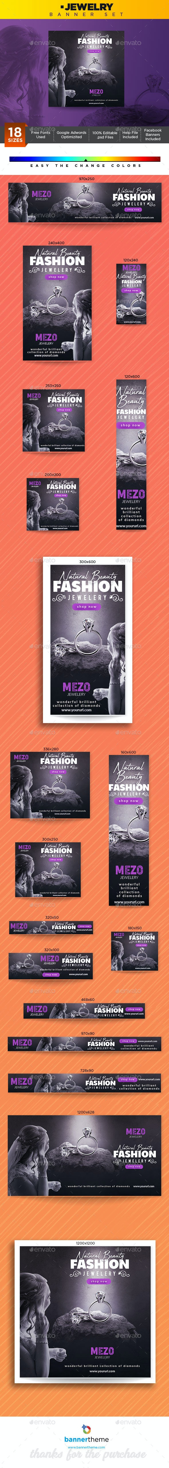 Jewelry Banner - Banners & Ads Web Elements