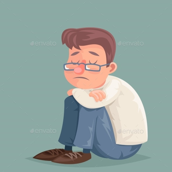 Businessman Suffers Depression Sadness - People Characters