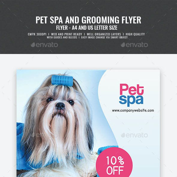 Pet Spa and Grooming Center Flyer