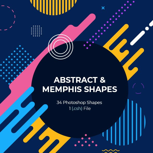 Abstract & Memphis Photoshop Shapes