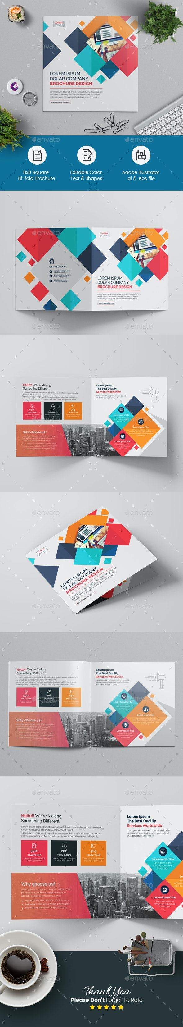 Square Bi-fold Brochure - Corporate Brochures