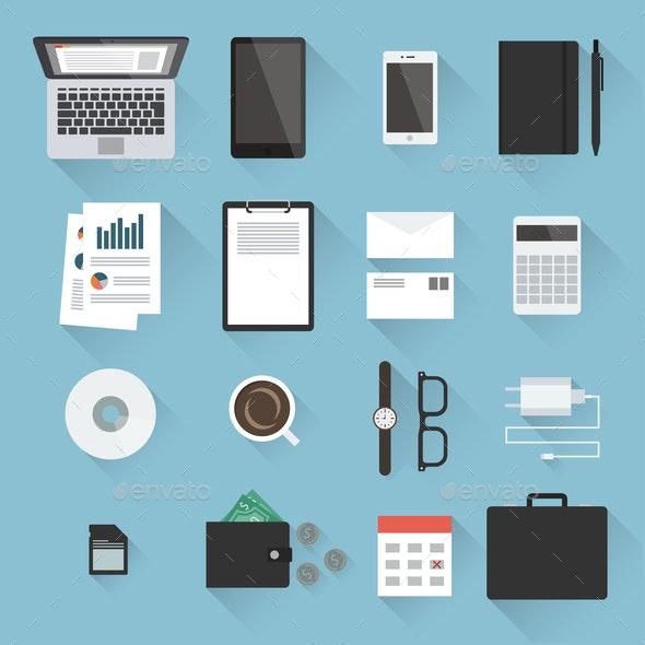 Business Desktop Objects Set - Concepts Business