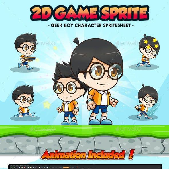 Geek Boy Tobi - 2D Game Character Sprites