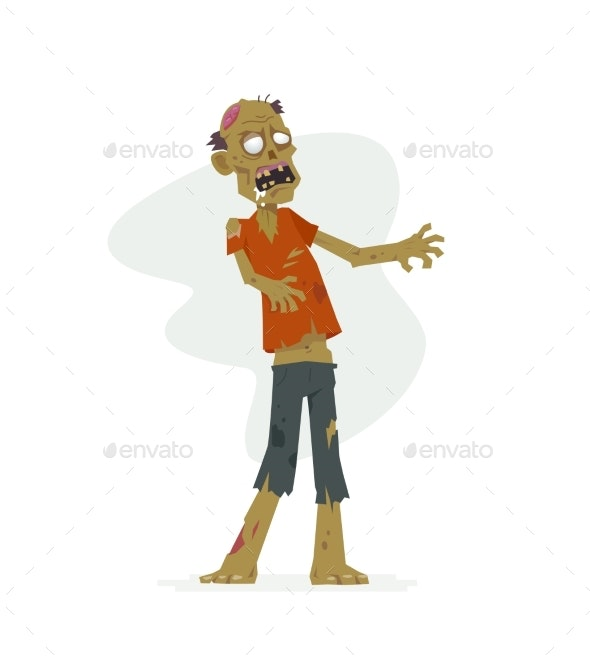 Zombie - Modern Cartoon People Characters Isolated - Halloween Seasons/Holidays