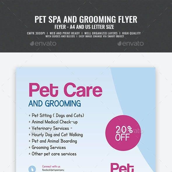 Pet Spa Center Flyer