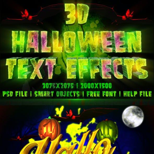 3D Halloween Text Effects