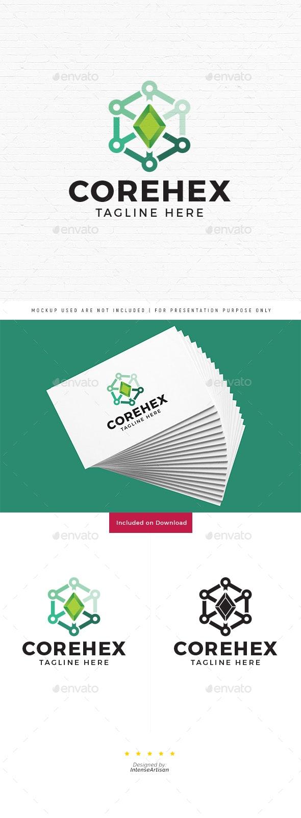 Core Hexa Logo - Objects Logo Templates