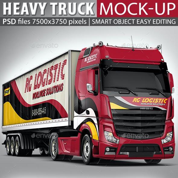 Semi-Trailer Truck Mock Up based Mercedes Actros