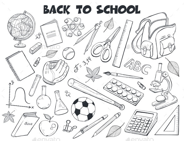 School Objects Vector Collection - Miscellaneous Vectors