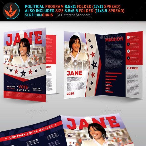 Vote Jane 2 Political Brochure Template 2
