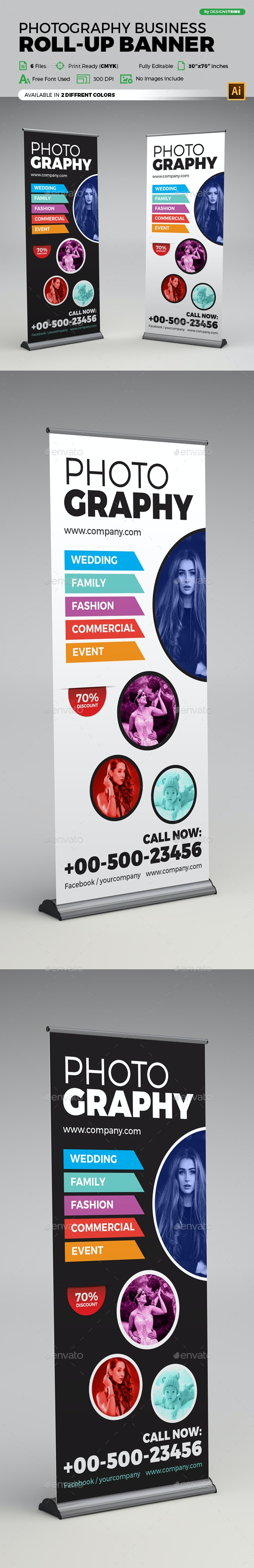 Photography X Banner - Signage Print Templates