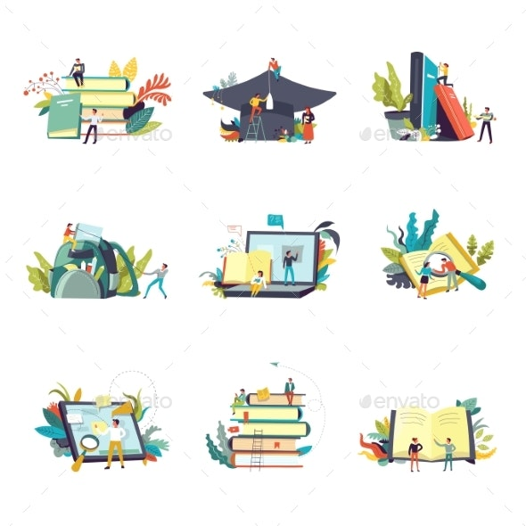 Education and Study Learning Icons. Vector - Miscellaneous Vectors