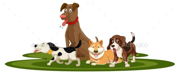 A Set Of Dog - Animals Characters