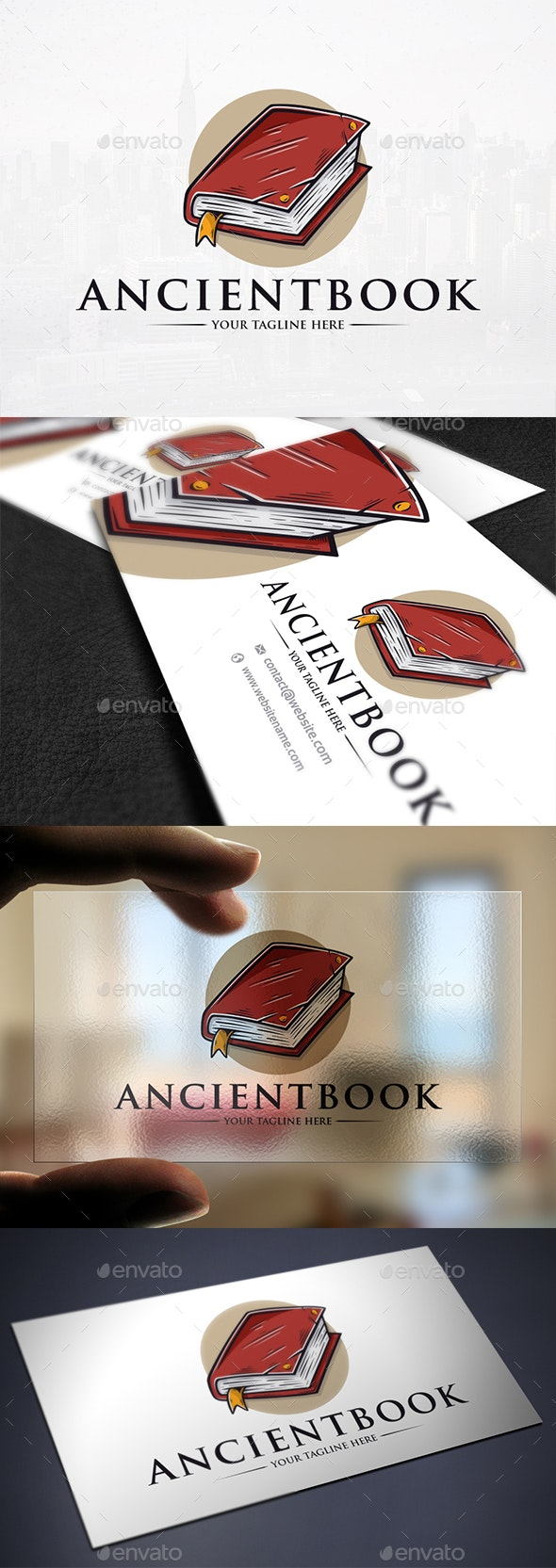 Ancient Book Logo Template - Objects Logo Templates
