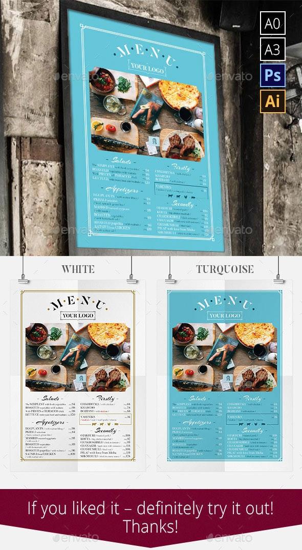 Restaurant Menu Poster Template - Food Menus Print Templates