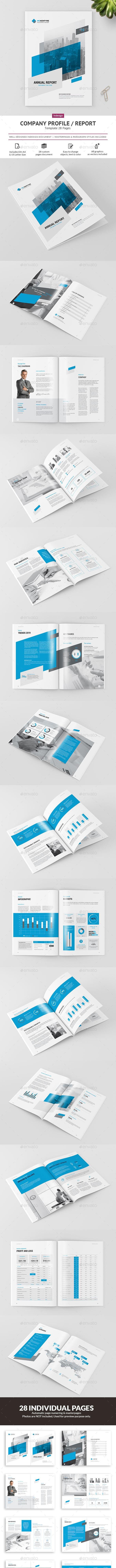 Company Profile / Annual Report - Brochures Print Templates
