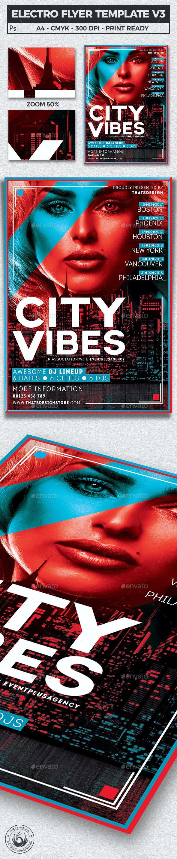 Electro Flyer Template V3 - Clubs & Parties Events