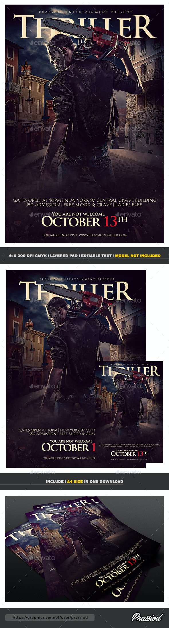 Thriller Flyer Template - Events Flyers