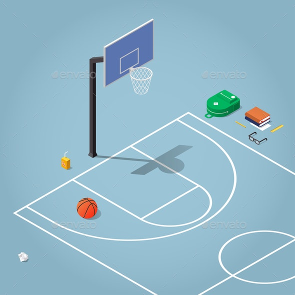 Isometric Physical Education Illustration - Sports/Activity Conceptual