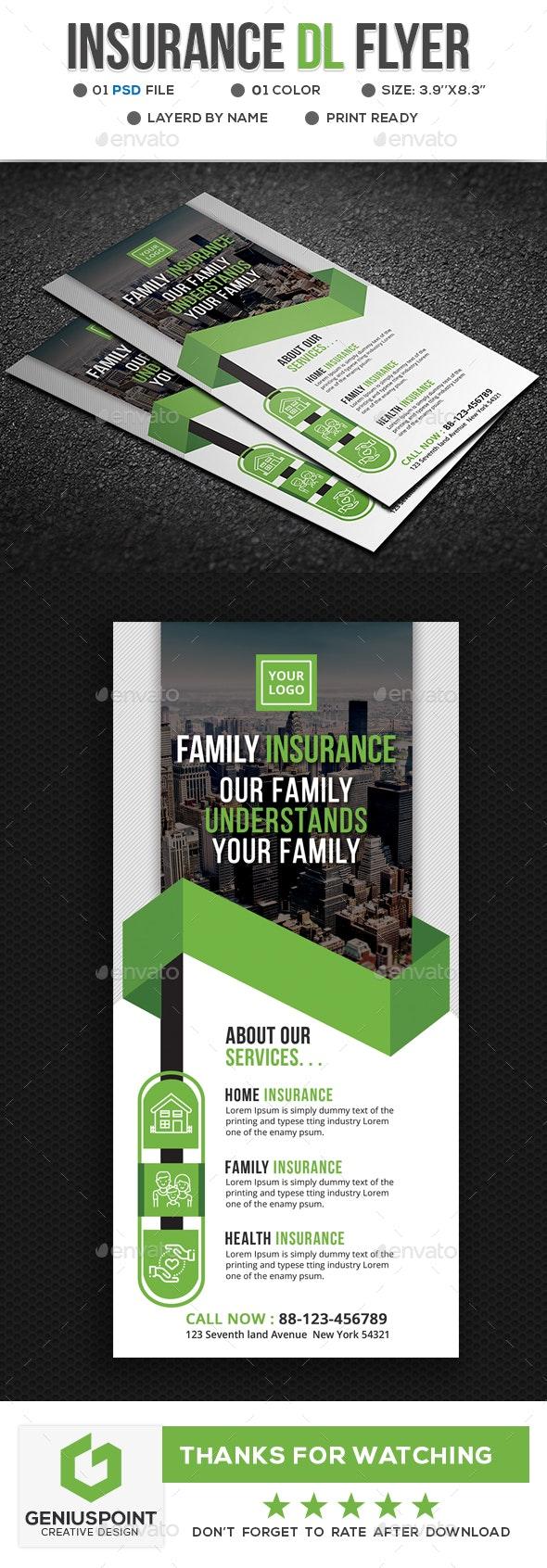 Insurance Dl Flyer - Flyers Print Templates