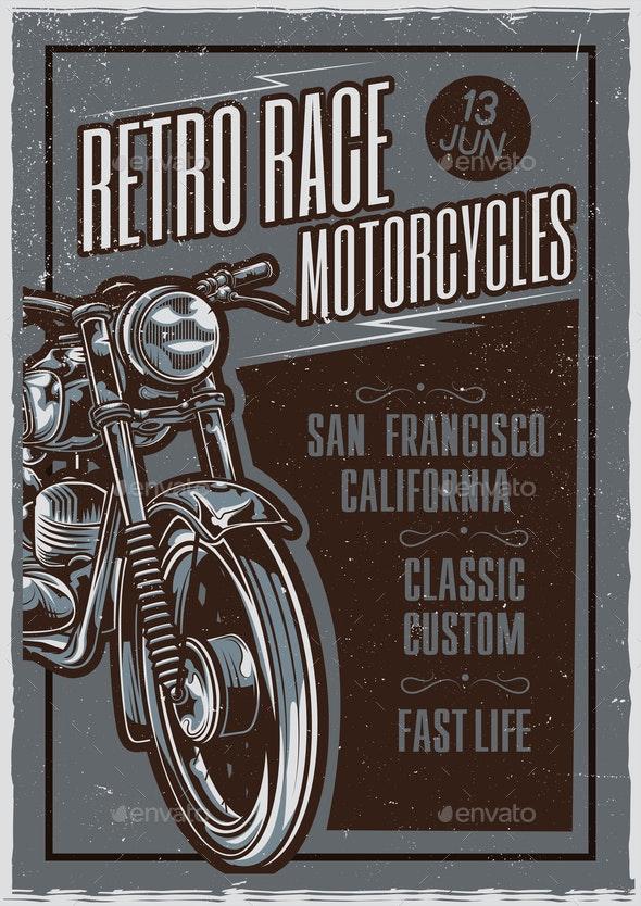 Retro Race Poster - Miscellaneous Vectors