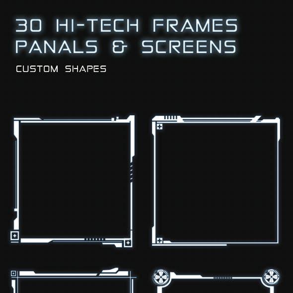 30 Hi-Tech Frames Panels And Screens
