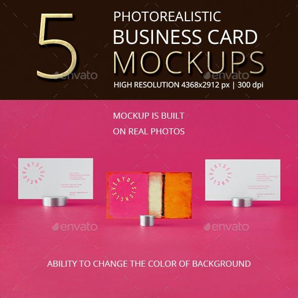 Photorealistic Business Card Mockup Vol 4.0