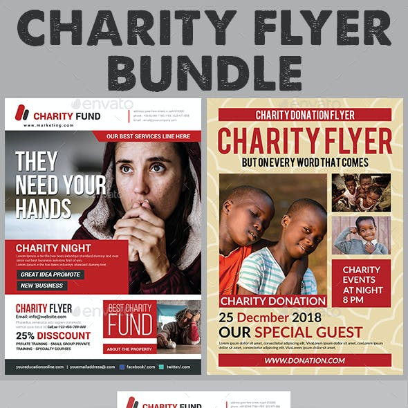 Charity Fundraisers Flyers Bundle