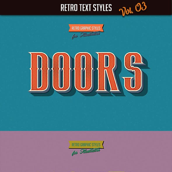 10 Retro Text Styles vol. 03