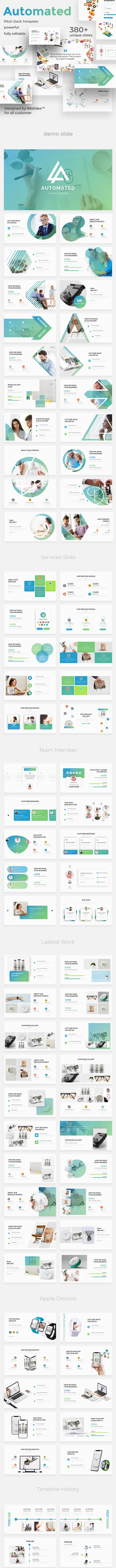 Business Automated Pitch Deck Powerpoint Template - Business PowerPoint Templates