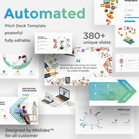 Business Automated Pitch Deck Powerpoint Template