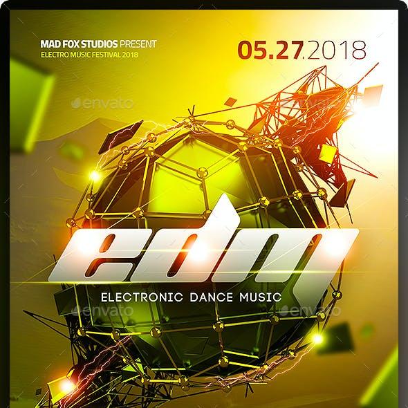 EDM Electro Dj Party Flyer