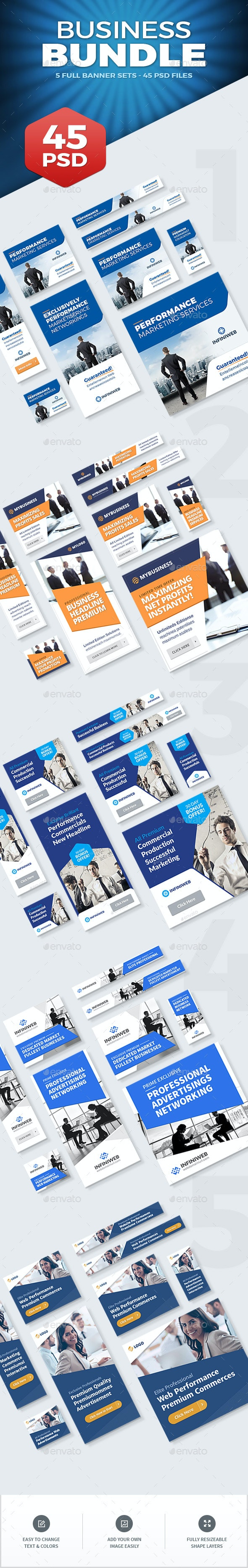 Business Banners Bundle - Banners & Ads Web Elements