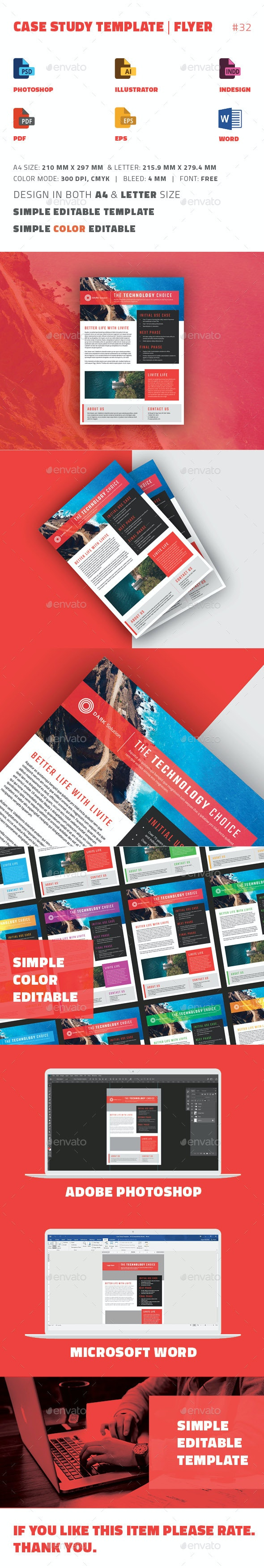 Case Study Template   Flyer - Newsletters Print Templates