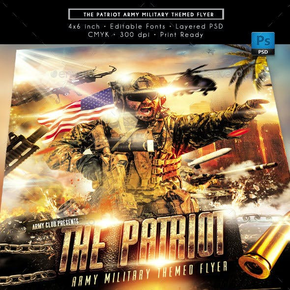 The Patriot Army Military Theme Flyer