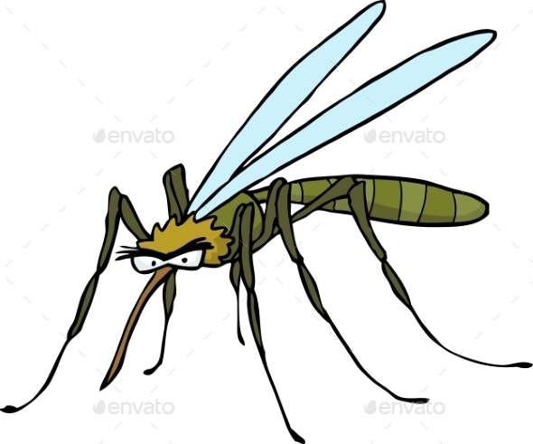 Cartoon Doodle Mosquito - Animals Characters