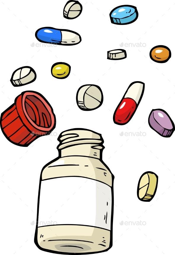 Vial of Pills - Health/Medicine Conceptual