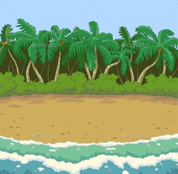 Tropical Beach Background - Landscapes Nature