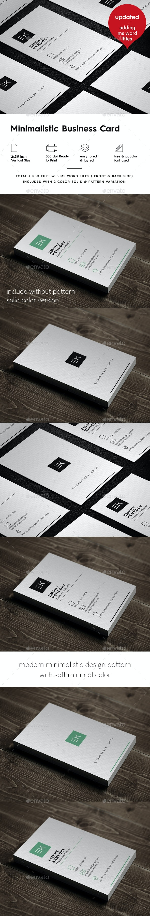 Minimal Modern Business Card - Business Cards Print Templates