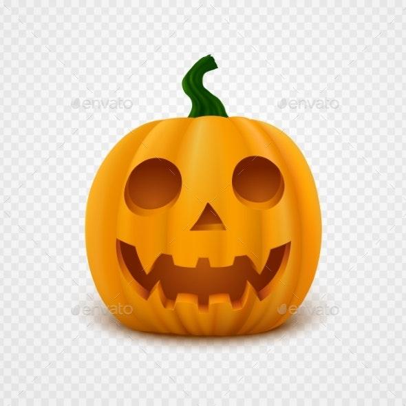 Realistic Vector Halloween Pumpkin - Halloween Seasons/Holidays