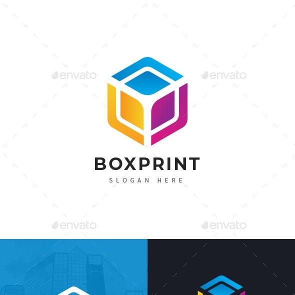 CMYK Box Print & Media Logo